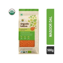 Organic Tattva Split Red Masoor Dal 500 gm