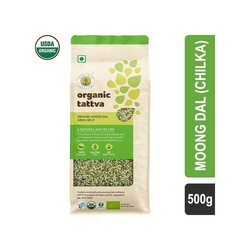 Organic Tattva Split Green Moong Dal 500 gm