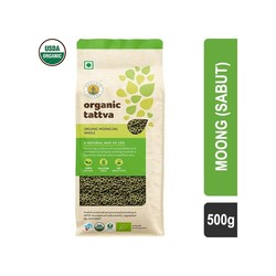 Organic Tattva Sabut Green Moong Dal 500 gm