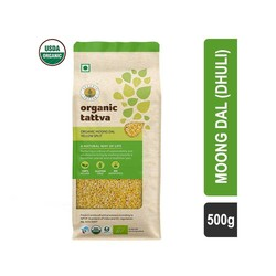 Organic Tattva Split Yellow Moong Dal 500 gm
