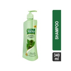 Dabur Vatika Oil Balance Smoothing Treatment Henna & Olive Oil Shampoo 340 ml