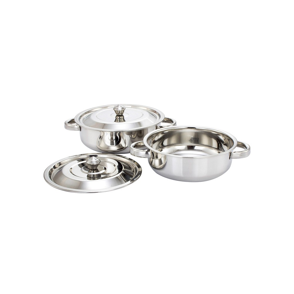 Klassic Vimal Stainless Steel 2 Pcs Cookware Set (Silver)
