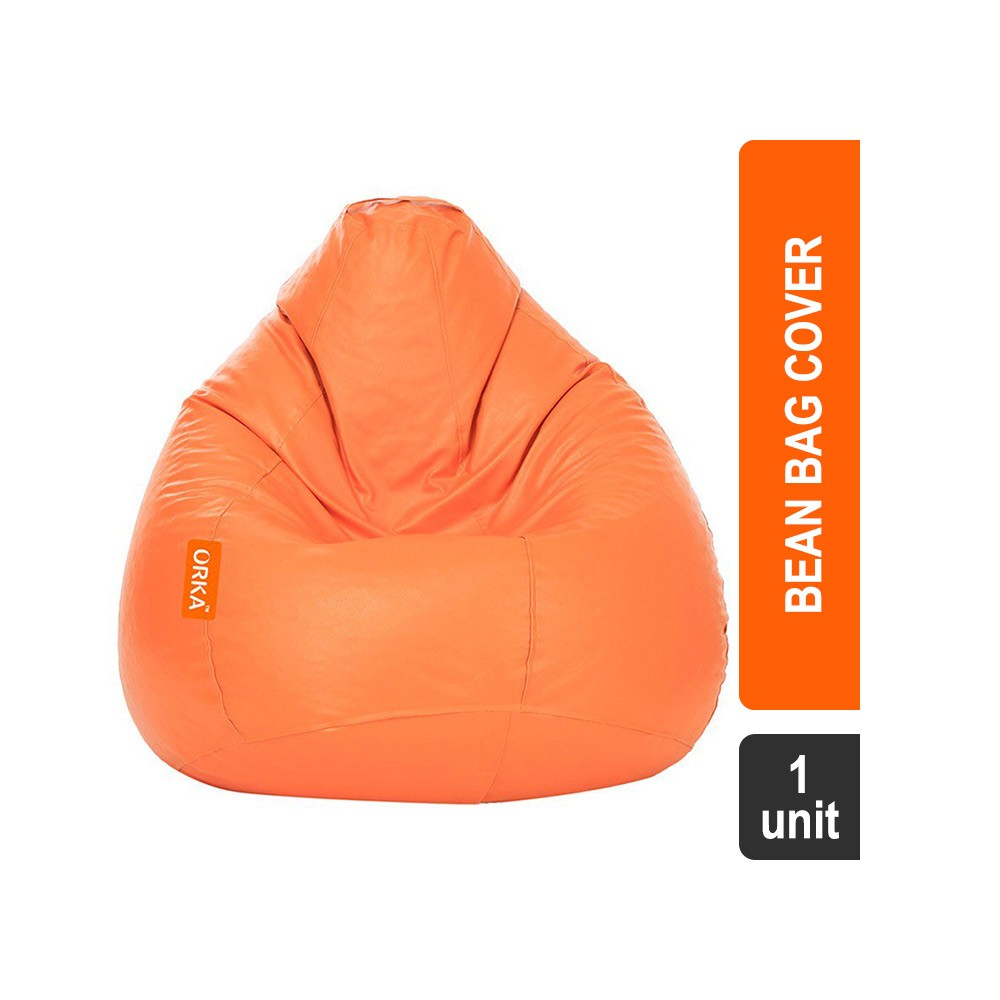 Orka Classic Bean Bag Cover Without Beans XL Orange
