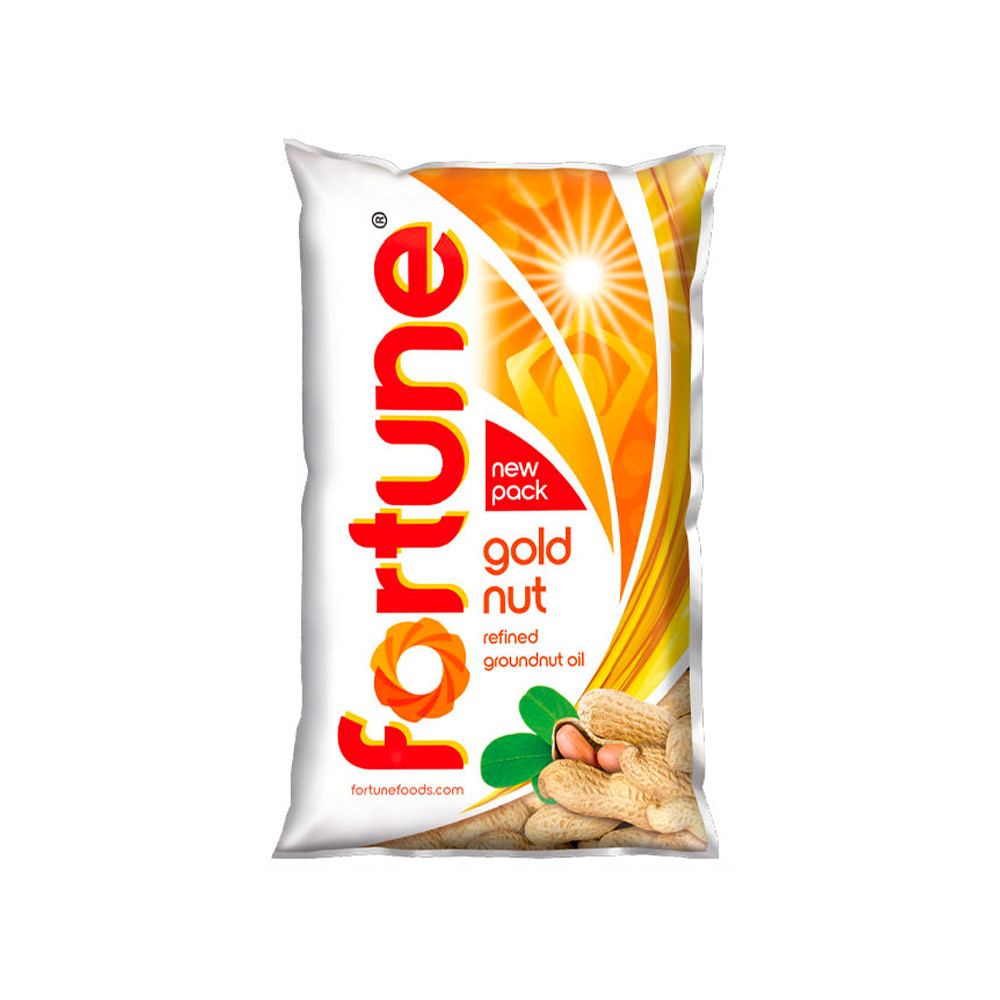 Fortune Goldnut Refined Groundnut Oil (Pouch)