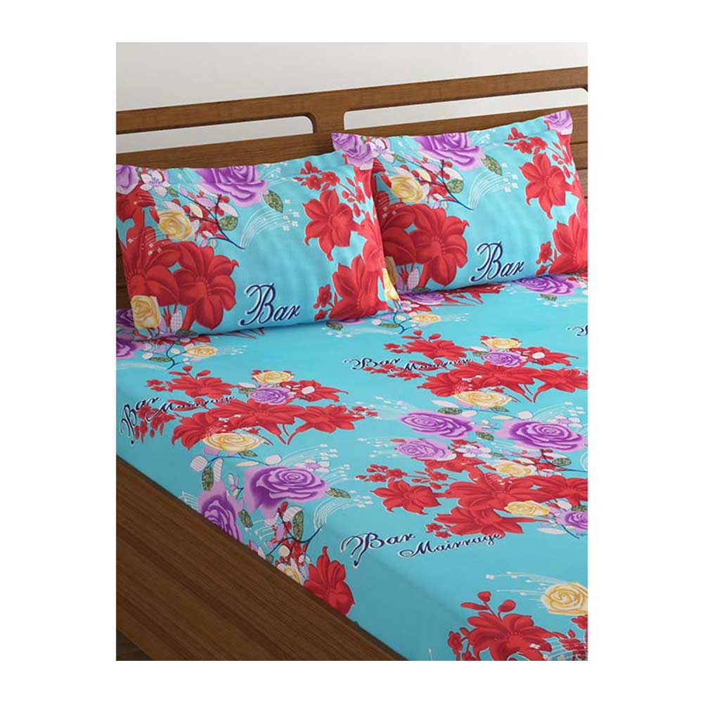 42392abbe1 Bombay Dyeing 160 Floral Microfiber Double Bedsheet Set (Green) - Amber-BS3DBAMBER4528GRN  Price